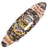 Penny board Action One® Portabil, PU, ABEC-7, Aluminiu, Eggboard Furious