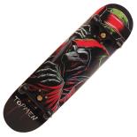 Skateboard Action One® ABEC-11, Aluminiu, 79 cm Black Skull