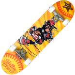 Skateboard ActionOne ABEC-7, Aluminiu, 79 x 20 cm, galben, Monkey