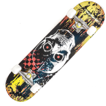 Skateboard Action One ABEC-7, Aluminiu, 79 x 20 cm, multicolor, Color Skull