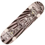 Skateboard Action One ABEC-7, Aluminiu, 79 x 20 cm, multicolor, Flying Skull