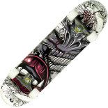 Skateboard Action One ABEC-7, Aluminiu, 79 x 20 cm, gri, Vampire Lips