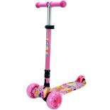 Trotineta Action One® Rider, cu roti luminoase si late, Pink