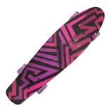 Penny Board Action One®, cu roti luminoase, 22, PU, Aluminium, 90 KG Asimetrical Stripes Mov
