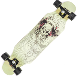Longboard Action One, ABEC-7, PU, Aluminiu, 100kg, 79 x 20 cm, multicolor, Angry Skull
