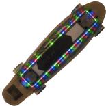 Skateboard Action One 22 cu bluetooth si roti luminoase, ABEC-7, negru