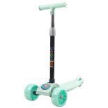 Trotineta copii Action One Balance Big Wheels, roti luminoase si late, verde