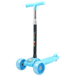 Trotineta copii Action One Balance Big Wheels, roti luminoase si late, albastru