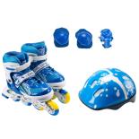 Set de role ActionOne Ciel, cu casca, protectii si geanta transport, reglabile, S (31-34), albastru