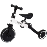 Tricicleta transformabila in bicicleta fara pedale Action One Milo, alb