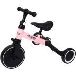 Tricicleta transformabila in bicicleta fara pedale Action One Coral, roz
