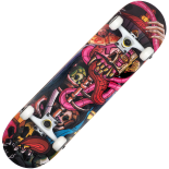 Skateboard Action One ABEC-7, Aluminiu, 80 x 20 cm, rosu, Elevated