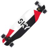 Longboard cu roti luminoase Action One, ABEC-7, PU, Aluminiu, 100 kg, 80 x 20 cm, negru, Sky