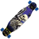 Longboard Action One, roti luminoase, ABEC-7, PU, Aluminiu, 100 kg, 80 x 20 cm, albastru, Tuxs