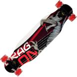 Longboard Action One, roti luminoase, ABEC-7, PU, Aluminiu, 100 kg, 80 x 20 cm, rosu, Dragon