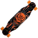 Longboard Action One, roti luminoase, ABEC-7, PU, 100 kg, 80 x 20 cm, portocaliu, Spider Death