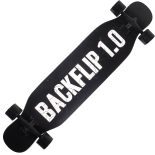 Longboard Action One, ABEC-9, PU, Aluminiu, 120kg, 108 x 23.5 cm, negru Backflip