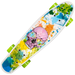 Penny Board Action One 22, ABEC-7, PU, Aluminium truck, Pink Skull